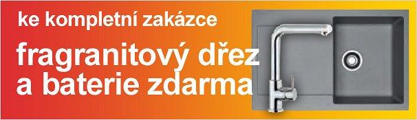 Ke kompletní zakázce fragranitový dřez a baterie zdarma(akce skončila)